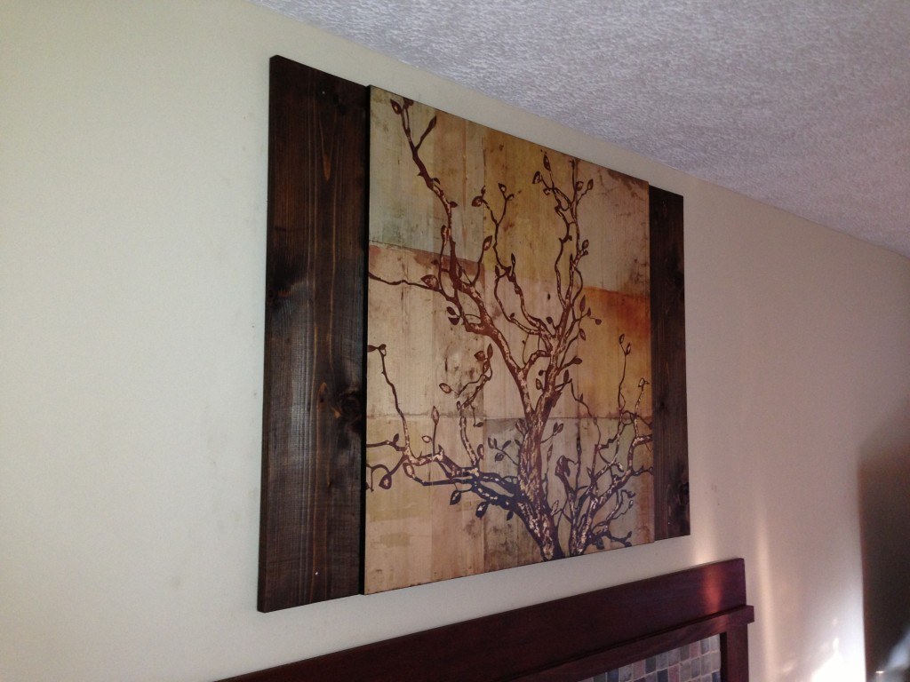 Wall Decor Using Pictures : Using stained wood to complement wall art coreyms
