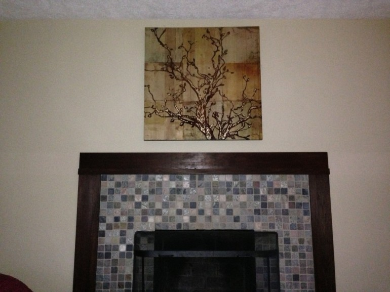 Painting Above Fireplace