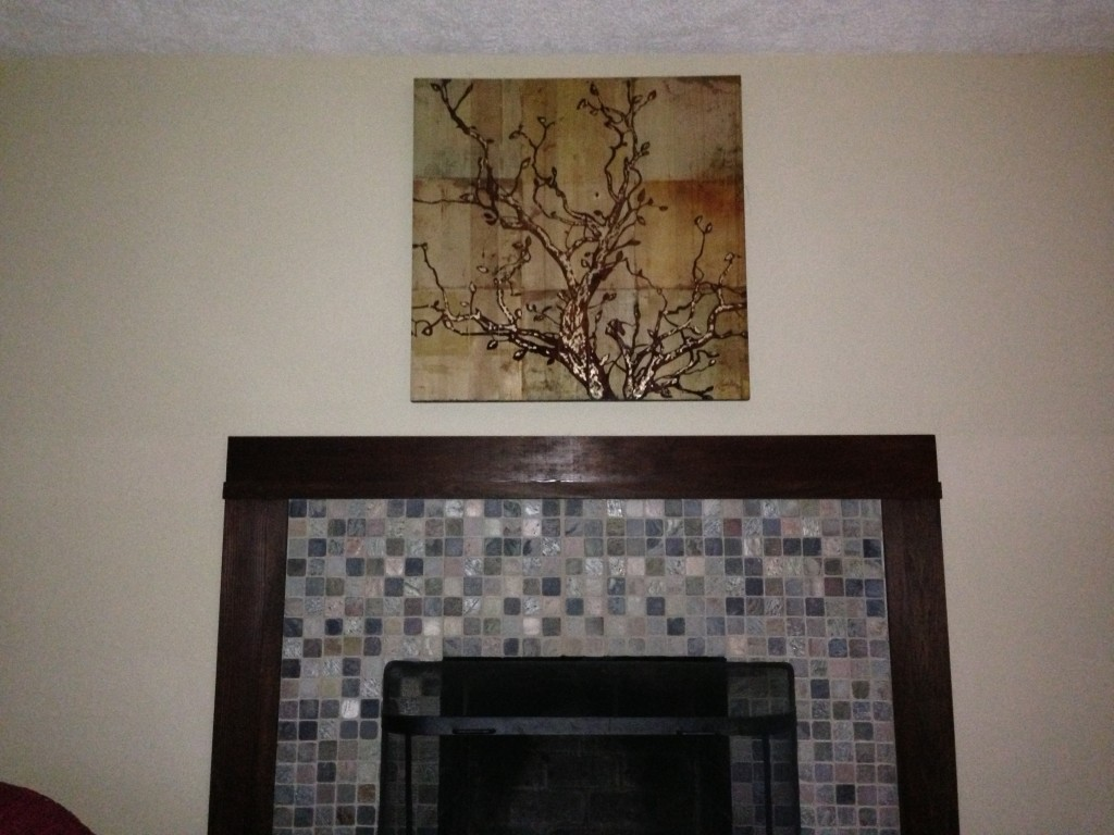using stained wood to complement wall art coreyms
