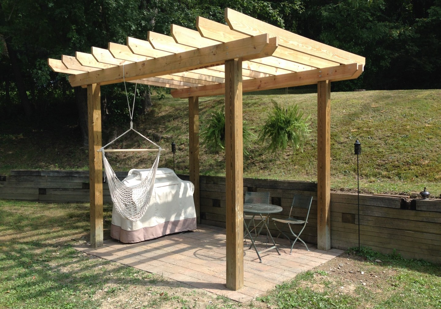 Finished Pergola - How To Build A Pergola - CoreyMS