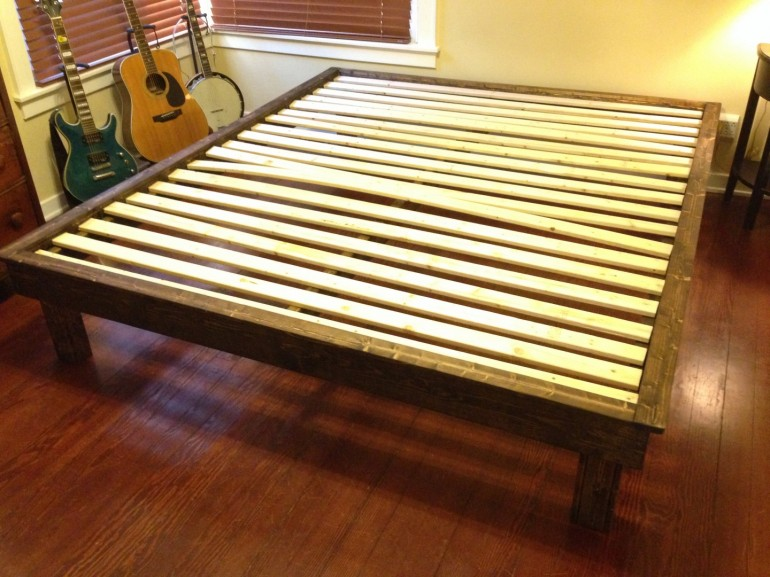 Finished bed frame